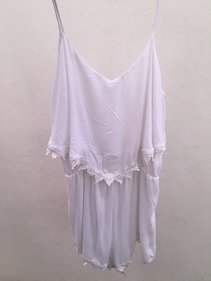 Jumpsuit Corto (short) Color Blanco