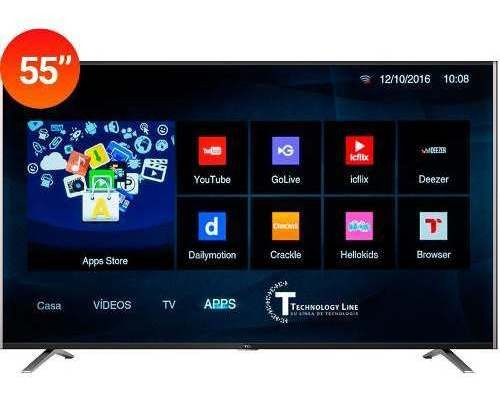 Smart Tv Bgh Hisense 55 4k Ultra Hd + Uled + Hdmi + Wifi