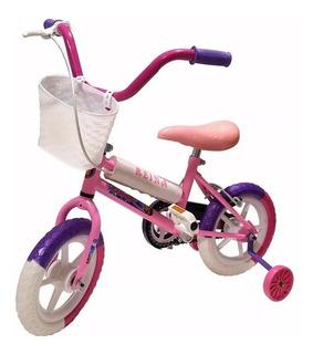 Bicicleta Infantil Rodado 12 Niña Nena Ruedas Reforzadas