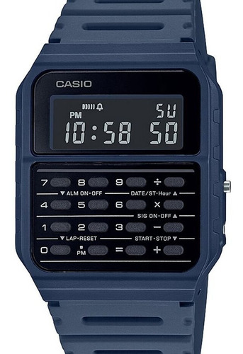 Relógio Casio Unissex Calculadora Data Bank Ca-53wf-2bdf