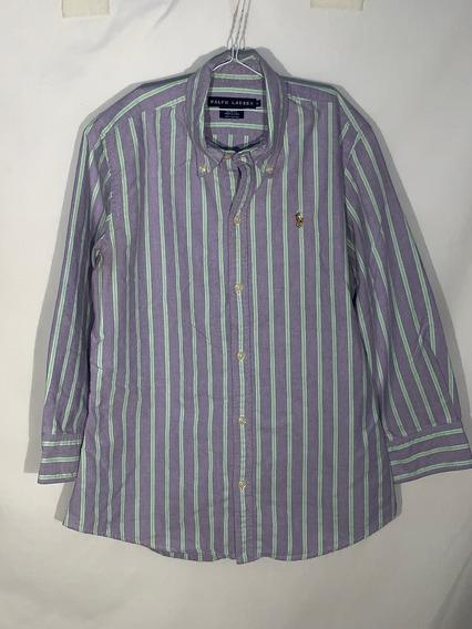 F Camisa 6 Ralph Lauren Id N948 Usada Detalle Hombre