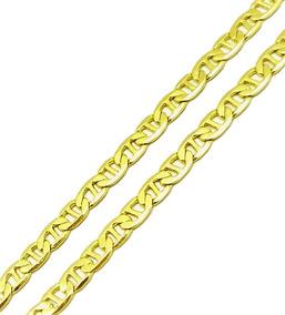 Corrente Cordão Masculino Piastrine 60cm Banho Ouro 18k 1836