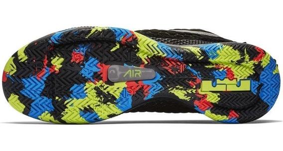 Tenis Nike Lebron Witness Iii Negro,suela De Colores,nuevos