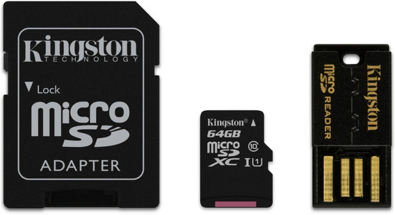 Multi Kit De Lectura Kingston Micro Sd Clase 10 64gb + Adap