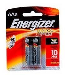 Pilas Aa Energizer Max Alcalinas Blisters De 2