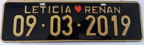 Placa De Carro/moto Personalizada Casamentos Comemoração