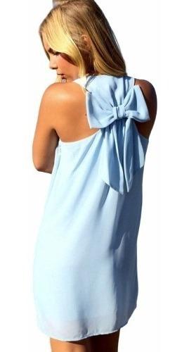 Vestidos Importados, Gasa Forrado, Importante Moño Atrás