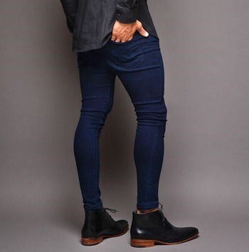 Jean Ultra Skinny Hombre Azul Marino