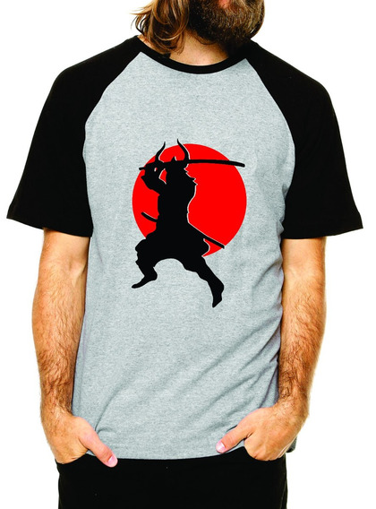 Camiseta Samurai Tema Oriental Bushido