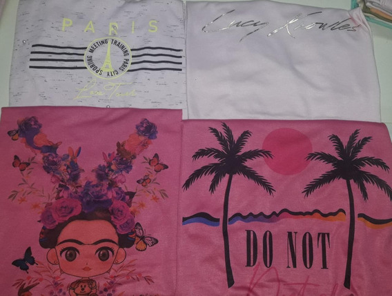Pack De 12 Remeras Dama Sublimadas