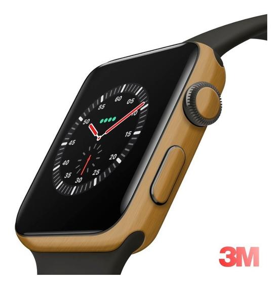 Skin Adesivo Ouro Escovado 3m Apple Watch 44m Series 4