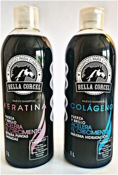 14 Shampoo Cola Caballo Uso Humano Bella Corcel 1lt /k /sa