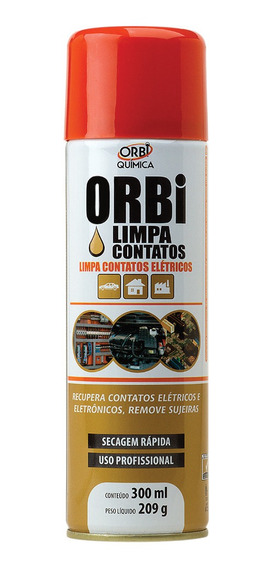 Limpa Contato Elétrico Eletronico Spray Orbi 300 Ml