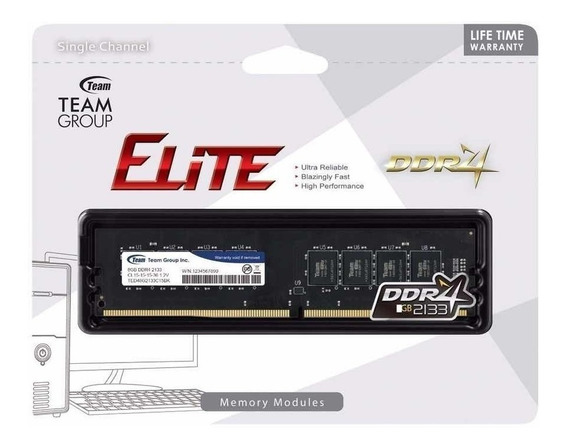 Memoria Ram Team Group Ddr4 8gb 2133 Mhz Dimm Blister