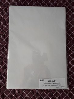 Filminas Transparentes A4 Para Impresoras Inkjet X20 Uni