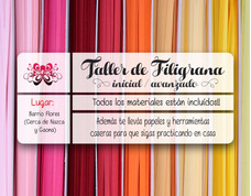 Workshop-seminario De Filigrana / Quilling