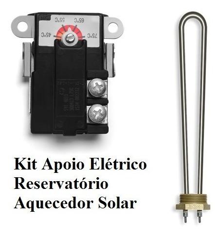 Kit Apoio Elétrico Aquecedor Solar Termostato E Resistência