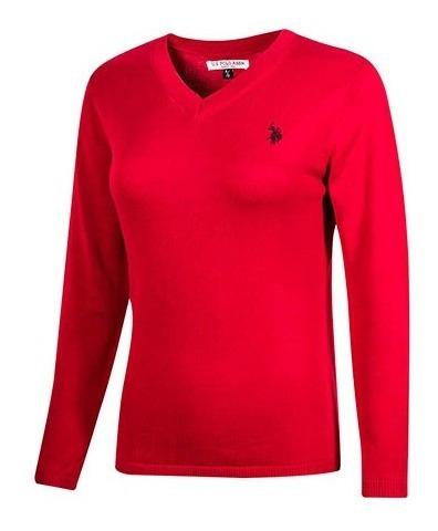 Suéter U.s Polo Asnn Uslswtl-44-2593 Rojo Women Oi