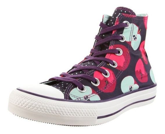 Botitas Converse All Star Violeta Estampada Exclusiva Dama
