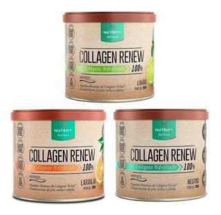 3x Collagen Renew Hidrolisado Nutrify 300g Colágeno Verisol