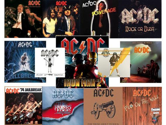 Coleção Ac/dc 12cds Melhores Sucessos + 1dvd +cd Iron Man 2