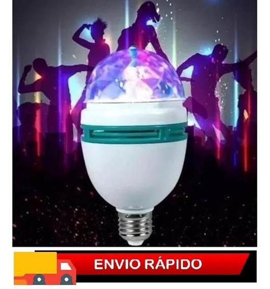 Lâmpada Led Giratoria Para Festa Iluminação Rgb
