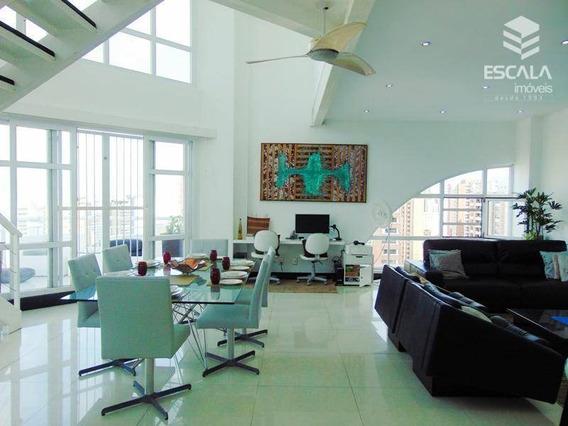 Cobertura Duplex Com 2 Quartos À Venda, 120 M², Vista Mar, Mobiliada - Meireles - Fortaleza/ce - Co0031