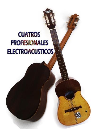 Cuatro Venezolano Profesional De 17 Trastes Electroacústicos