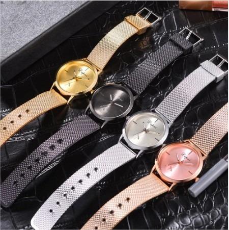 Relógio Feminino Lvpai Luxo Pulseira Em Silicone + Caixinha