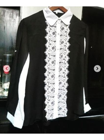 Camisa Poliéster Combinada