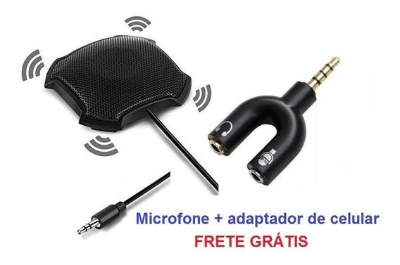 Microfone Para Conferência Fokey Fk-841 + Adapt. De Celular