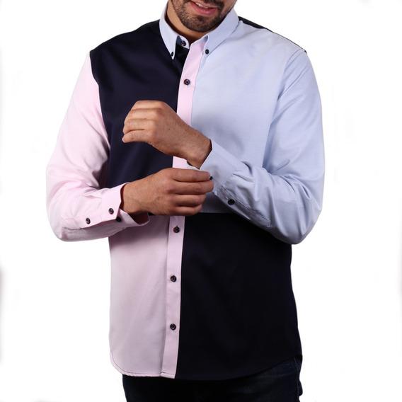 Camisa Paolo Marino Rosa Cielo Comfort Fit Alg Envío Gratis