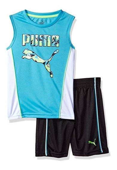 Conjunto Puma Verão Menino Infantil Original Regata Camiseta