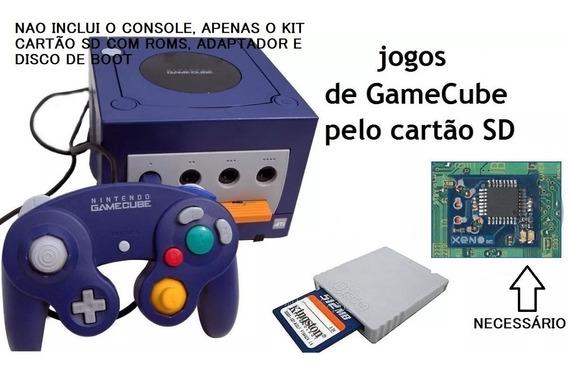 Kit Sd Gecko + Sd 32gb + 30 Jogos Para Gamecube Frete Gratis