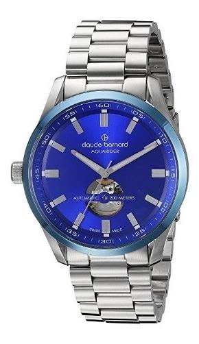 Relógio Suíço Claude Bernard Automático Azul/aço Diver Heart