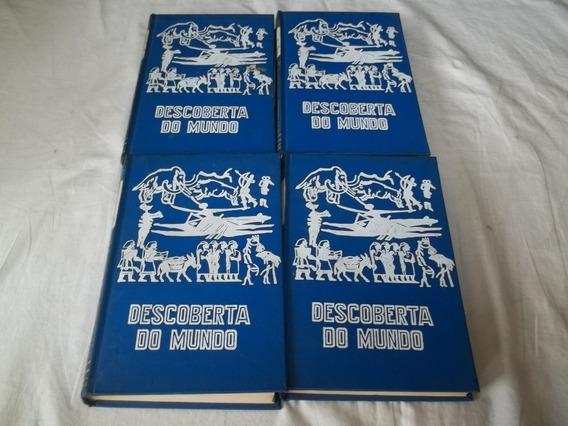 Lote 4 Livros - Descoberta Do Mundo - Capa Dura Azul