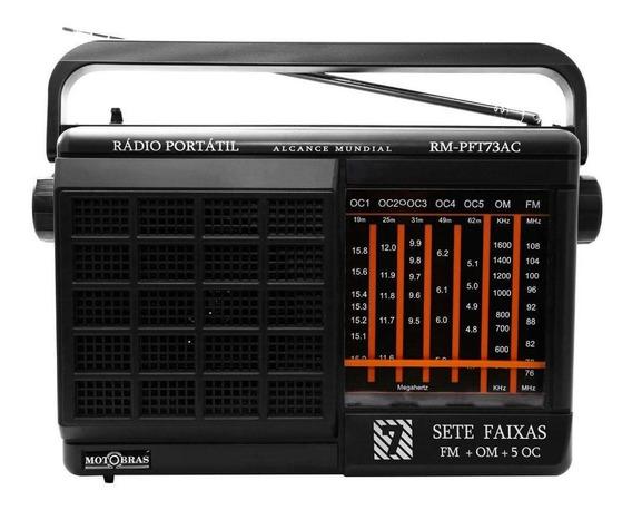 Rádio Motobrás Rm-pft73ac 7 Faixas Fm