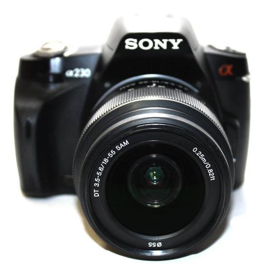 Câmera Sony Alpha A230 Com Lente 18-55mm 3.5-5.6 Dt Sam