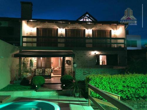 Bela Moradia, Casa De Três Dormitórios No Condomínio Verdes Campos - Ca0594