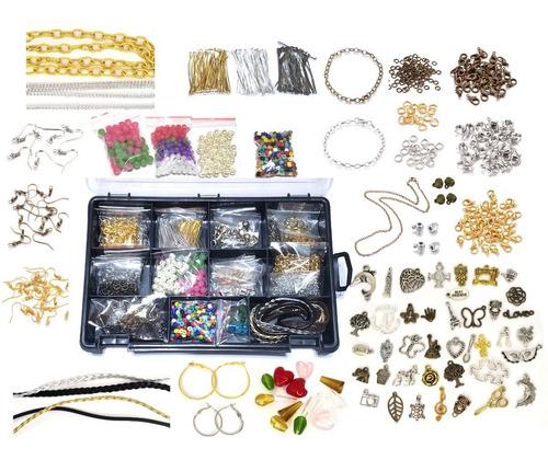 Kit  Componentes Bisuteria, Dijes,  Cadena, Etc Para Armar