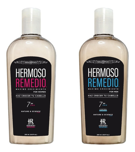 Imagen 1 de 10 de Duo Shampoo Crecimiento Anti Caida Reparador Cabello 7 En 1