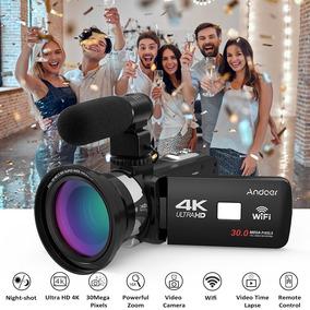 Camera Digital Andoer 4k 30 Mp 16x Zoom Ultra Hd Microfone
