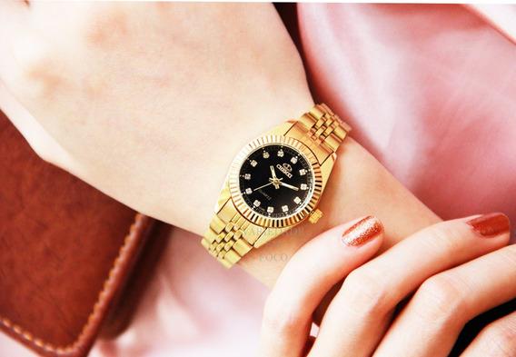 Relógio Barato Feminino Resistente A Água De Ótima Qualidade