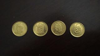 Monedas Caciques De Venezuela Oro 22k Ley 900