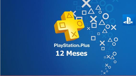 Ps Plus 12 Meses Ps4 Playstation Plus !!!!!