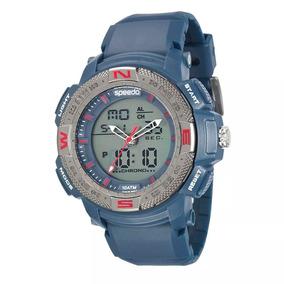 Relógio Speedo Masculino Digital 81107g0evnp1 Azul-marinho