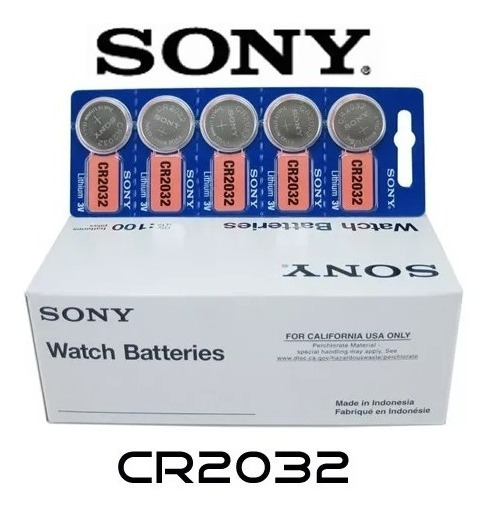 Bateria Lithium Cr2032 3v Sony Cartela 10 Unidades Plac Mãe