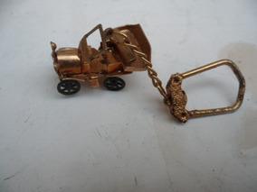 Chaveiro Miniatura Metal Calhanbeque Ouro Velho Fretegratis