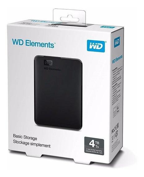 Hd Externo 4tb Wd Elements Se Usb 3.0 Novo Lacrado