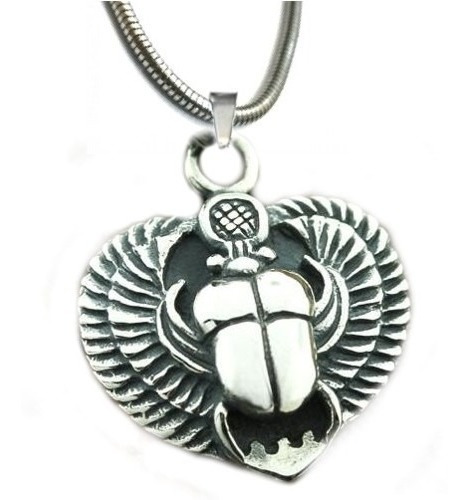 Corrente Egito Pingente Escaravelho  Amuleto Egito